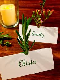 facci designs diy herb scented place cards