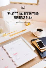 what to include in your business plan business business