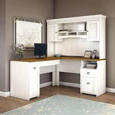 Desk L With Organizer Small Hutch Desk L Shaped Computer With Organizer Interque Co