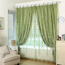 Green Sheer Curtains 1pcs Green Sheer Curtain For Living Room Window Blackout Curtains