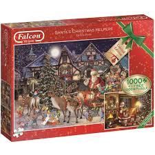 halloween jigsaw puzzle falcon santa u0027s christmas helpers jigsaw puzzles 1000 pieces 2 pack