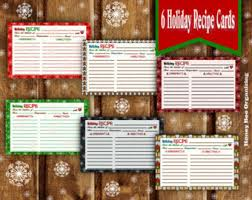 printable christmas recipe card editable with templett