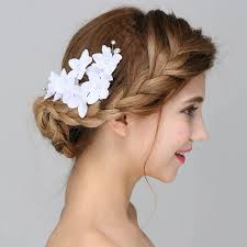 headdress for wedding new handmade wedding bridal hair combs white flower hairwear