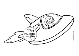 space rocket coloring pages for kids printable free coloing