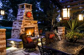 denver custom outdoor fireplace metro denver co landscape