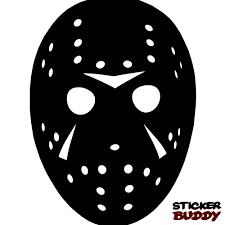 jason voorhees sticker halloween horror vinyl decal friday the