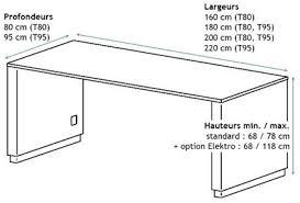 hauteur standard bureau ordinateur hauteur bureau standard