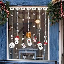 christmas window stickers snowman socks gift christmas window