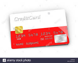3d rendered credit card covered with polish flag stock photo