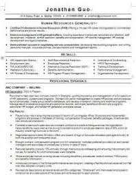 Sample Resume Of Hr Generalist by Hr Generalist Resume Sample Hr Sample Resume Hr Generalist Resume