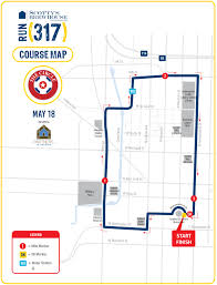 Map Of Downtown Indianapolis The Circle Run 317
