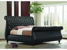 Black Leather Sleigh Bed Black Leather Sleigh Bed Frame Dublin Beds