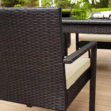 Best Deals On Outdoor Patio Furniture Outdoor Wicker Table And Chairs Set Round Patio Table And Chairs