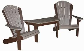 outdoor chair with table attached maintenance free patio furniture three sisters furnishings