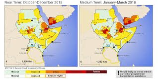 Eastern Africa Map by East Africa Food Security Outlook Famine Early Warning