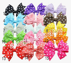 the ribbon boutique wholesale 30pcs wholesale polka dot ribbon boutique hair bows without clip