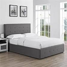 Grey Fabric Ottoman Bed Modern Statement Beds Achica