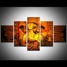 hindu decorations for home hd print 5pcs canvas wall hindu god ganesha painting canvas