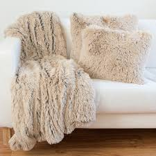 designer collections by sheri shag faux fur pillow or throw