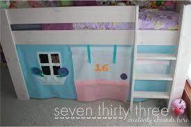 Bunk Beds Tent Sew Loft Bed Felt Tent Tutorial Seven Thirty Three Tierra Este
