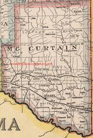 Map Oklahoma Mccurtain County Oklahoma 1922 Map
