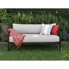 Round Outdoor Sofa Chaise Lounges Replacement Sofa Cushions Foam For Wicker