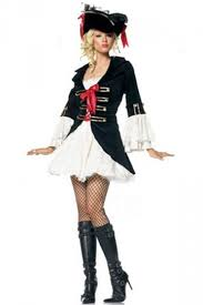 Halloween Costumes Pink Ladies Black White Fancy Ladies Cosplay Halloween Pirate Costume