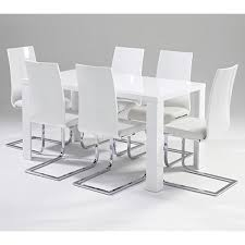 Gloss White Dining Table And Chairs White Dining Table Set Creative Of White Gloss Dining Table And