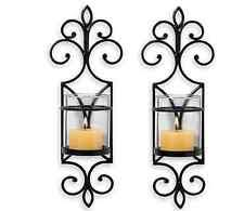 Wall Sconce Set Of 2 San Miguel Set Of 2 Pentaro Wall Sconces Home Decor Bronze Candle