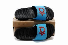 kd slides discount nike kd slide blue black basketball shoes 100 top