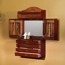 Wall Mirror Jewelry Armoire Wall Hung Jewelry Armoire Foter