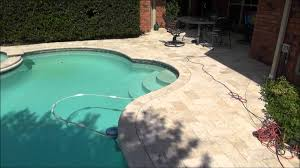 Travertine Patio Pavers by Pool Reconstruction Travertine Pavers Tile Plaster Dallas Fort