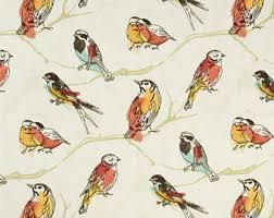 Bird Print Curtain Fabric Stall Shower Curtain Etsy
