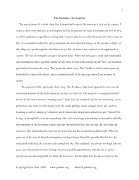Examples Of Literary Criticism Essays Literary Analysis Essay Example Short Story