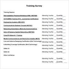 sample training survey training survey survey bank training