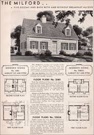 sears homes floor plans 1936 milford sears roebuck modern homes honor bilt cape cod