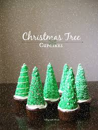 baking with blondie christmas tree cupcakes