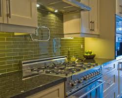 green glass tiles for kitchen backsplashes coolest lime green glass tile backsplash my home design journey
