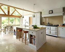 neat ergonomic kitchen islands designs featuring open shelving 5