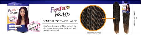 senegalese twist hair brand freetress synthetic hair crochet braids senegalese twist large