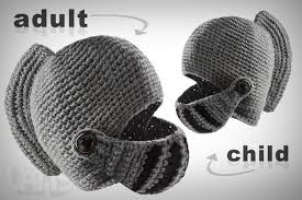 crochet pattern knight helmet free crocheted knight hat with pivoting visor and comb