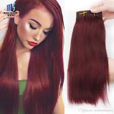 Colored Hair Extension by Cheap 3 Bundles Color 99j Burgundy Dark Wine Remy Hair Extensions