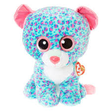 claires ty beanie boo large sydney leopard plush toy