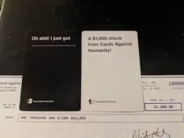 where can you buy cards against humanity cards against humanity surprised some of its customers with