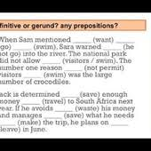 gerund and infinitive exercises advanced level oujdastudent over