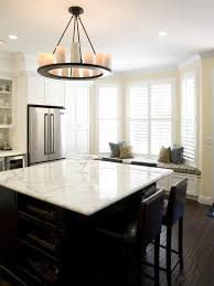 Square Kitchen Island This Neutral Transitional Kitchen Features A Wood Island With
