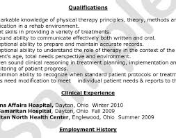 resume physical therapy resume beautiful therapy resume