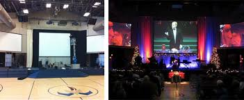 making your own diy projection screen church stage design ideas