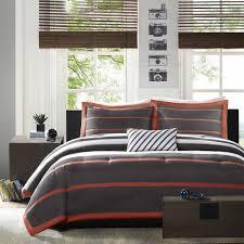 Orange Comforter Grey And Orange Bedding Vnproweb Decoration