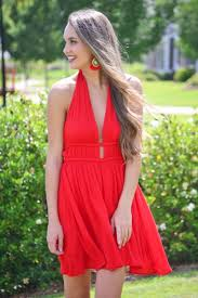 lady in red dress sale the blue door boutique
